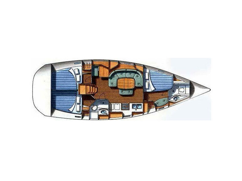 Oceanis 393 Clipper (Maja) Plan image - 2