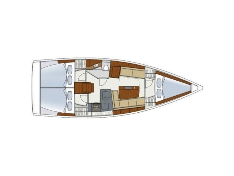 Hanse 345 (Blue Horizon) Plan image - 2