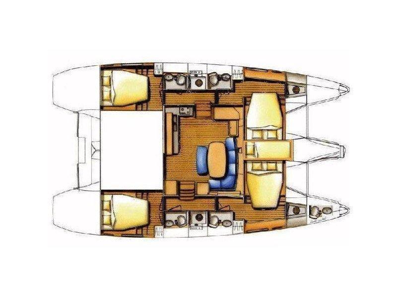 Lagoon 421 (Bellvista) Plan image - 3