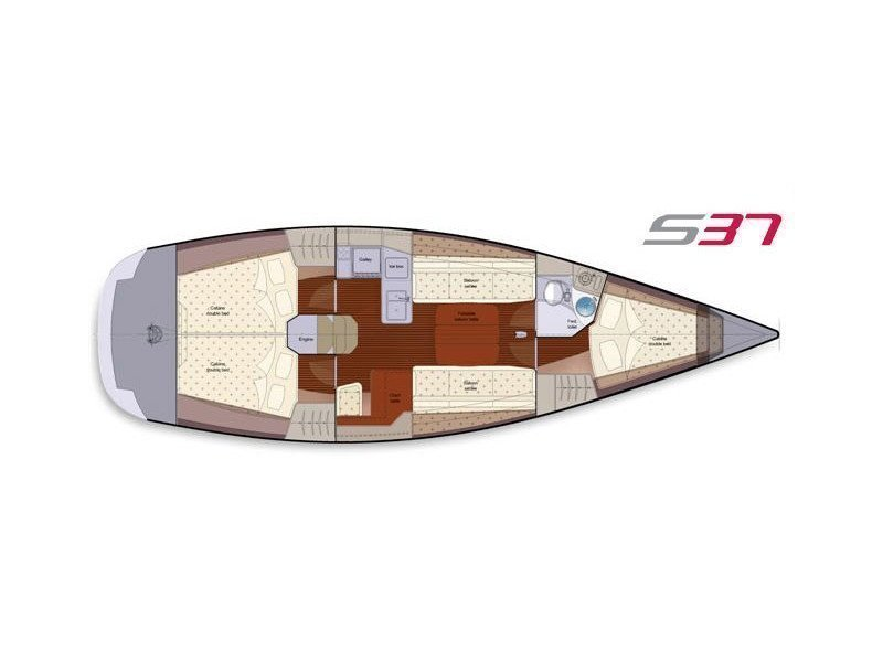 Salona 37 (Red Zeppelin) Plan image - 4