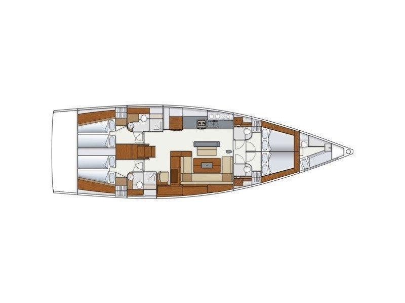 Hanse 575 (Miss Malin) Plan image - 6