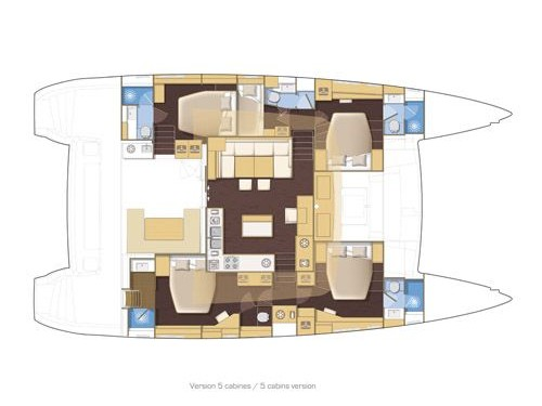 Lagoon 560 S2 (TAIPAN) Plan image - 3