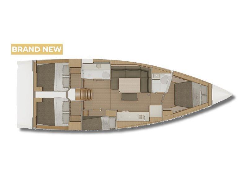 Dufour 430 Grand Large (Largo) Plan image - 18