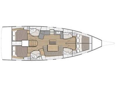 Oceanis 46.1 (July - Watermaker 12V (4 Cabins 4 Heads )) Plan image - 2