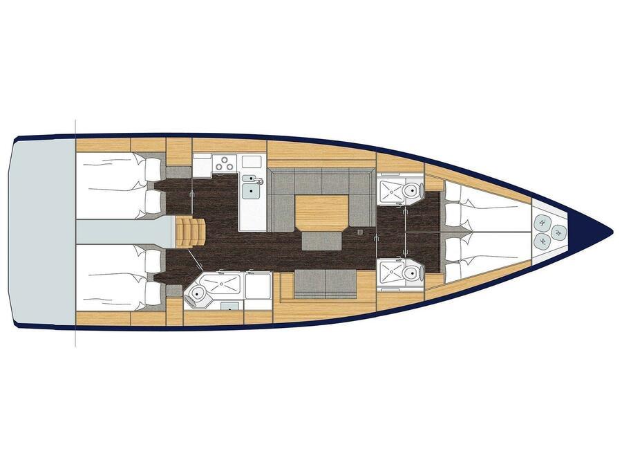 Bavaria C45 (WILDCARD) Plan image - 1