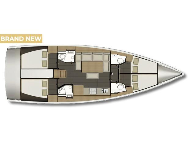 Dufour 460 Grand Large (Nadine AC/Gen) Plan image - 1