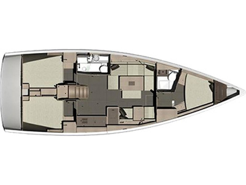 Dufour 410 Grand Large (CL- 411-15-F) Plan image - 1