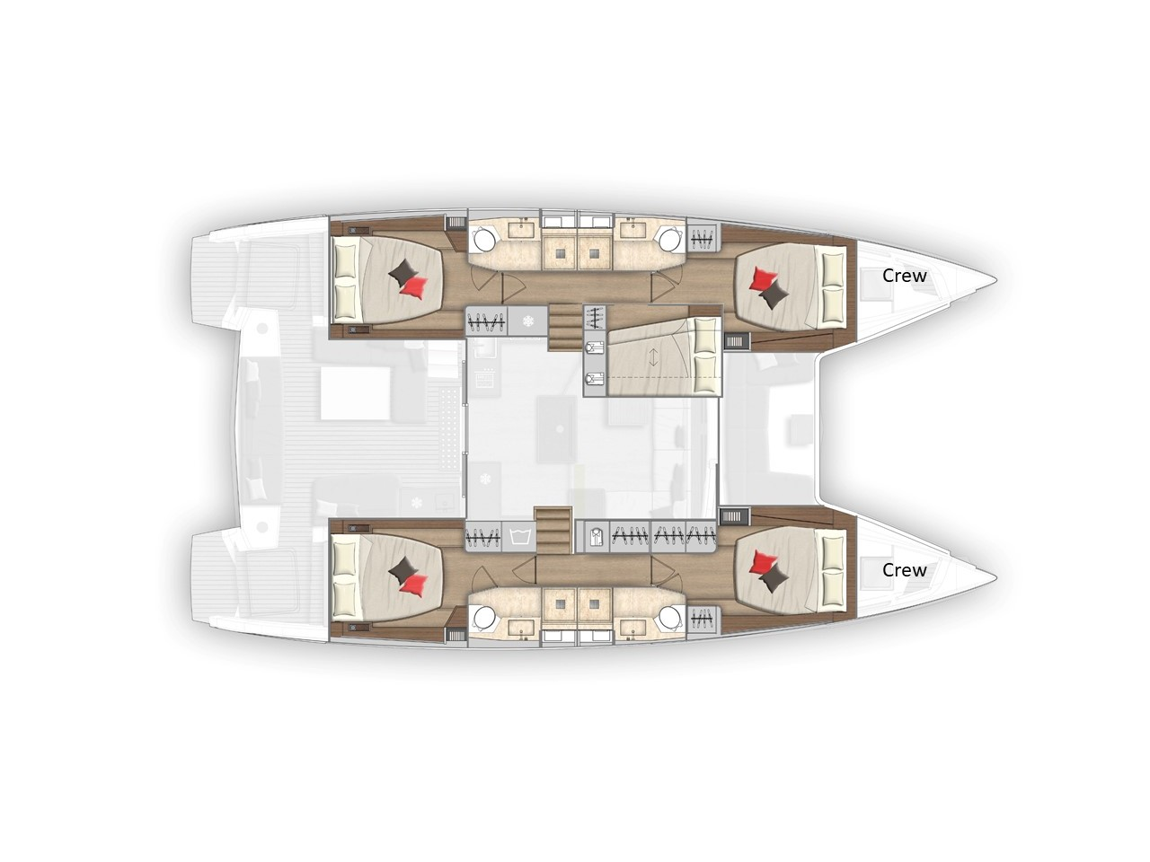 Lagoon 50 LUX (2020) equipped with airconditioning (PRINCESS KISS) Plan image - 10