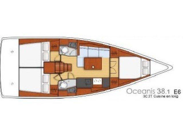 Oceanis 38.1 (Citrea) Plan image - 2