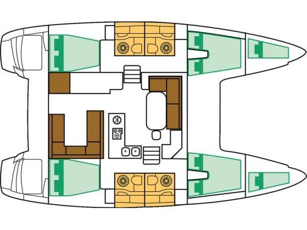 Lagoon 400 S2 (Naya) Plan image - 12