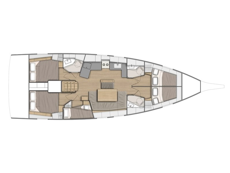 Oceanis 46.1 (no name (A/C)) Plan image - 1