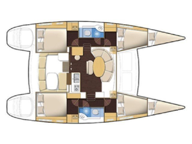 Lagoon 380 S2 (Zen (A/C-Generator) (Rebuilt 2019)) Plan image - 11