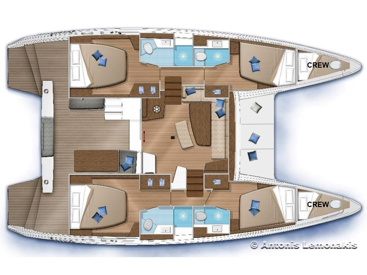 Lagoon 42 (Winny (skippered only)) Plan image - 2