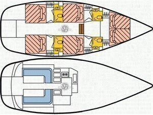 Dufour Atoll 6 (The Big One) Plan image - 5