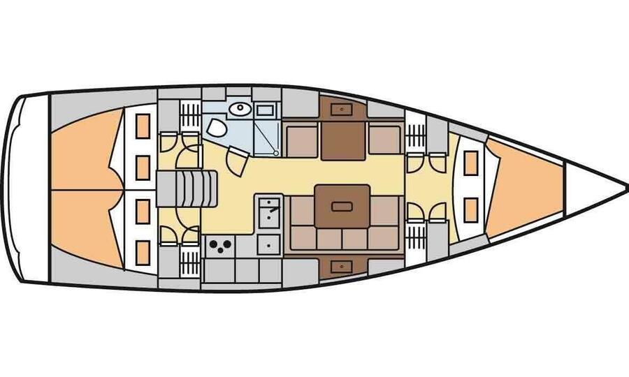 Hanse 375 (Baba Yaga) Plan image - 7