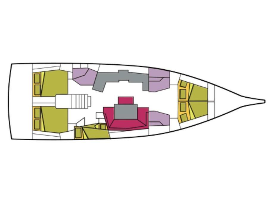 Oceanis 46.1 (5 cab) (Becrux) Plan image - 19