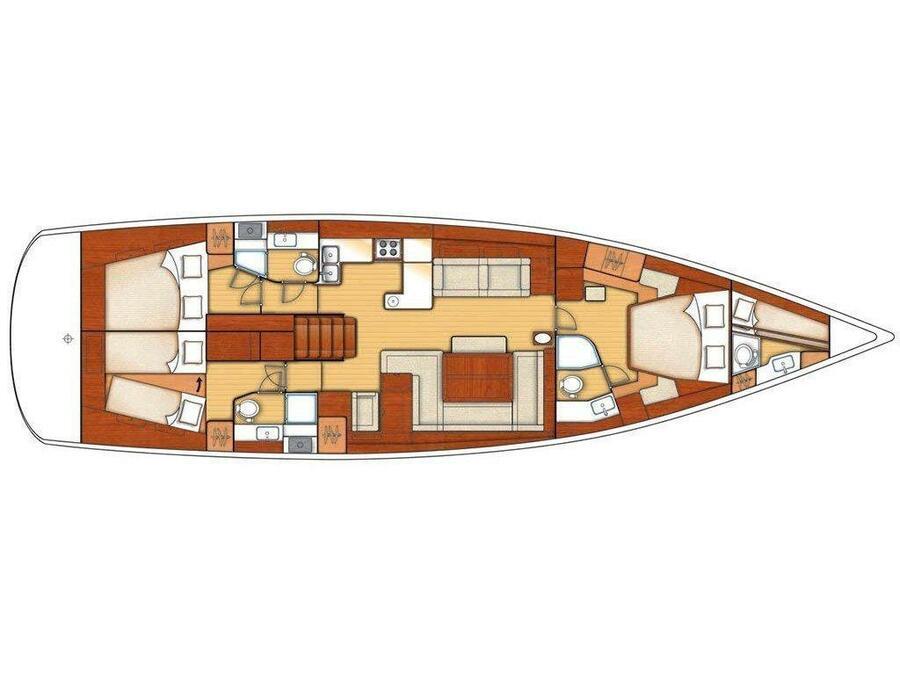 Oceanis 58 (Queen Axiera) Plan image - 19