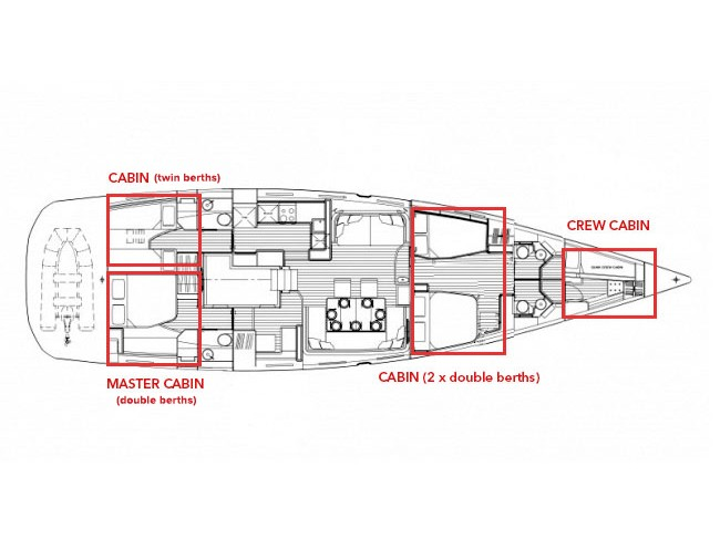 Jeanneau 64 (BALLADEER) Plan image - 39