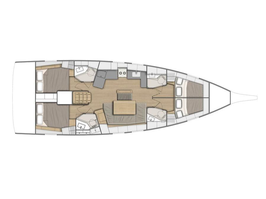 Oceanis 46.1 (Amalthia) Plan image - 1