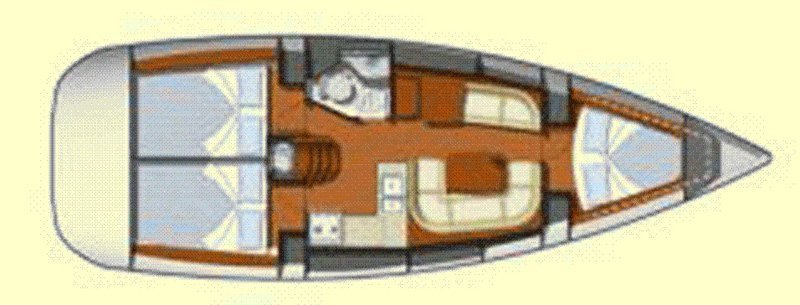 Sun Odyssey 36i (Lyra) Plan image - 16