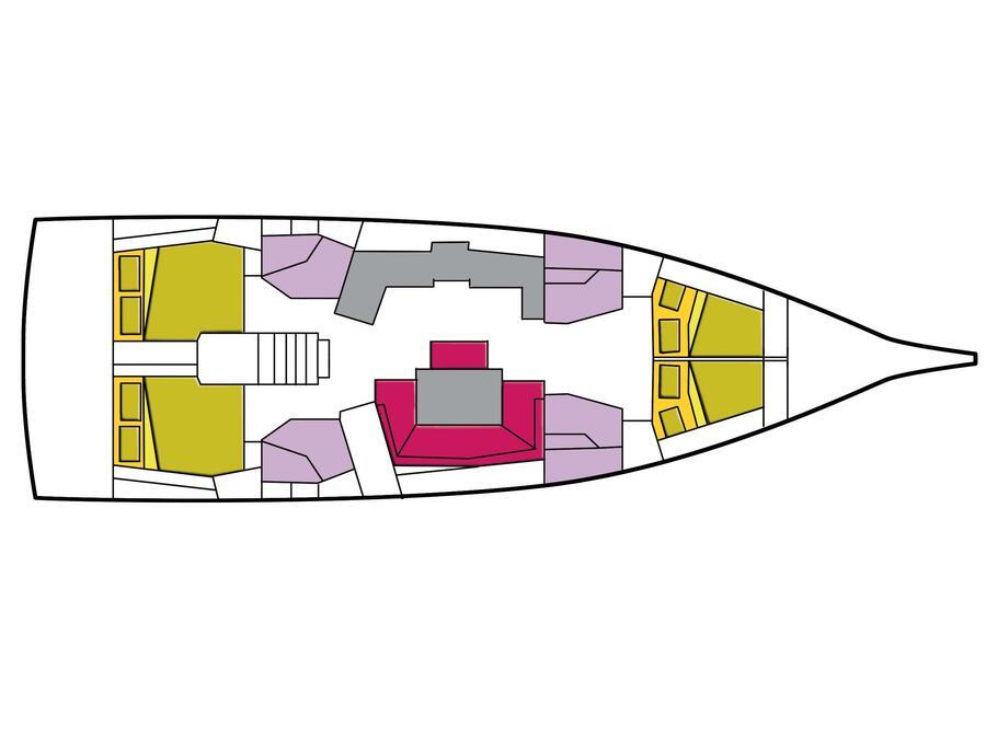 Oceanis 46.1 (4 cab) (Ferro Azzurro) Plan image - 6