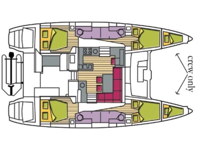 Lagoon 450F (8+2) (Shana (THAI)) Plan image - 3