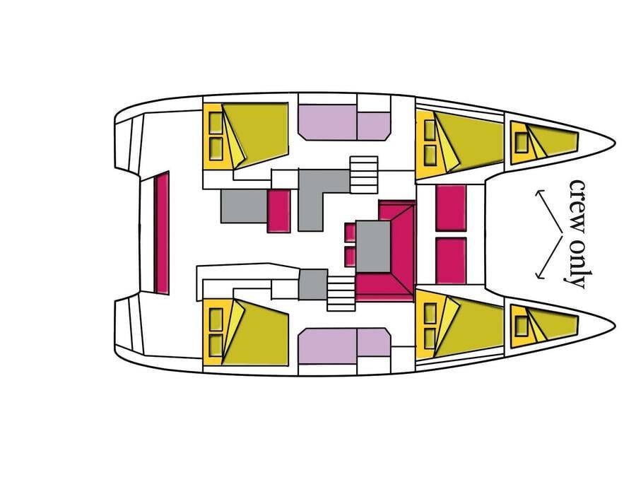 Lagoon 40 (4 cab) (Starelli) Plan image - 1