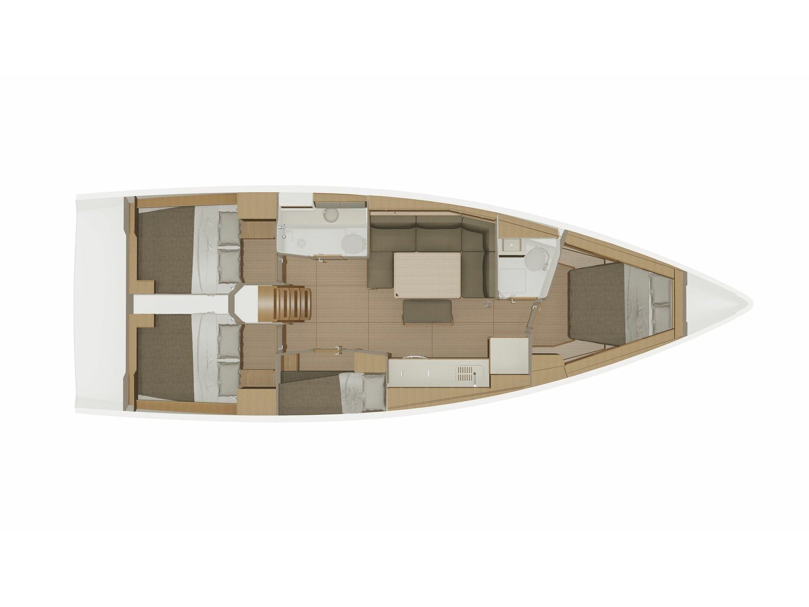 Dufour 430 Grand Large (Marlera) Plan image - 10