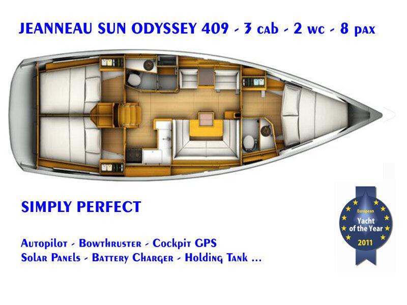Sun Odyssey 409 (El Greco) Plan image - 4