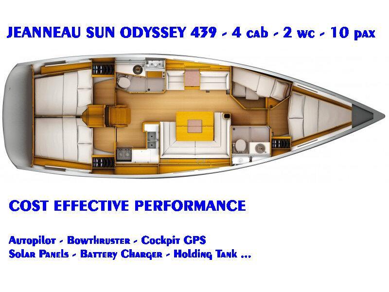 Sun Odyssey 439 (Fregata) Plan image - 3