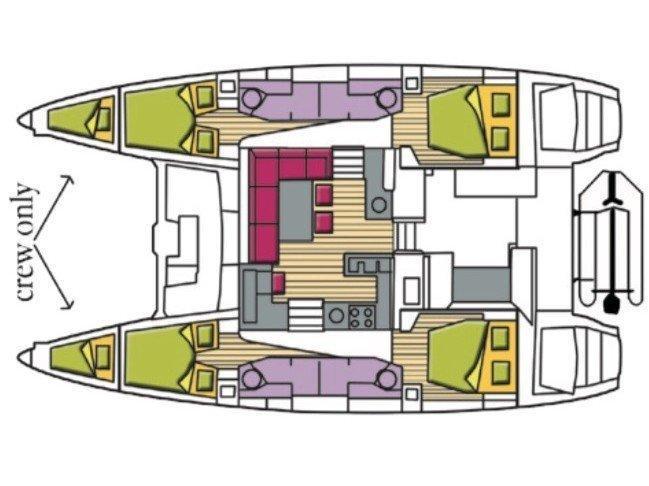 Lagoon 450F (Rigel Kentaurus (A/C, WM, Generator, Inverter)) Plan image - 14