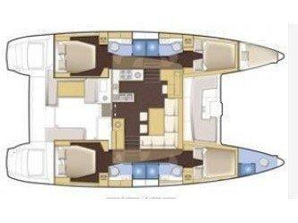 Lagoon 450  Flybridge (Agata) Plan image - 4