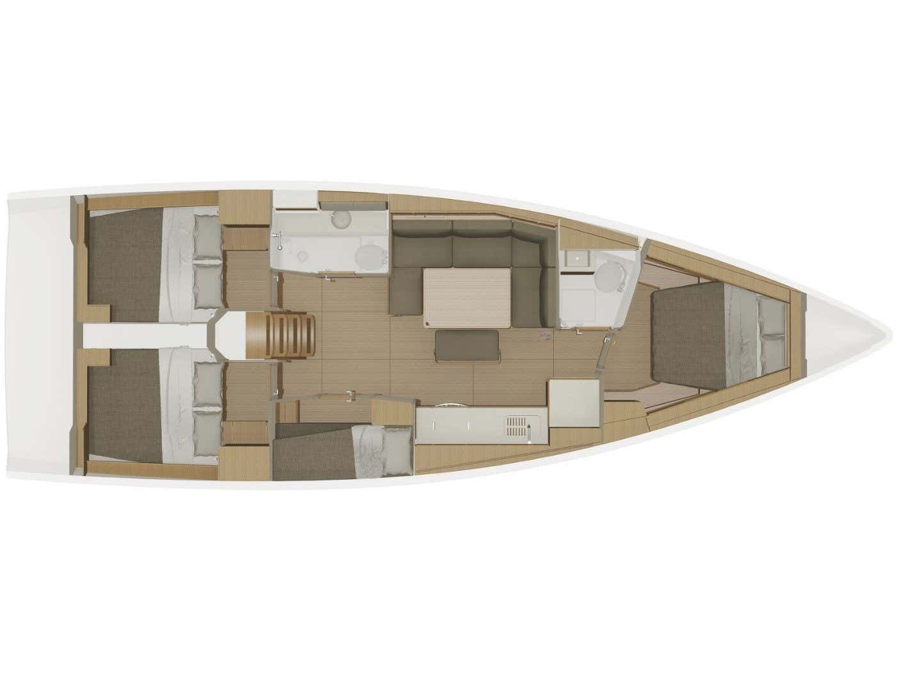Dufour 430 Grand Large (Fenera) Plan image - 13