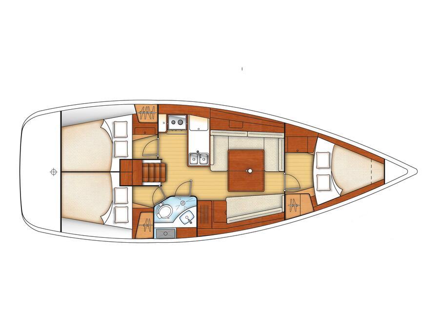 Oceanis 37 (Tristaina) Interior image - 1