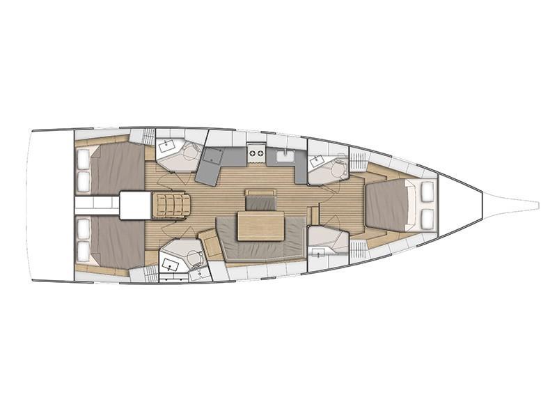 Oceanis 46.1 (Owner's Vision) Plan image - 1