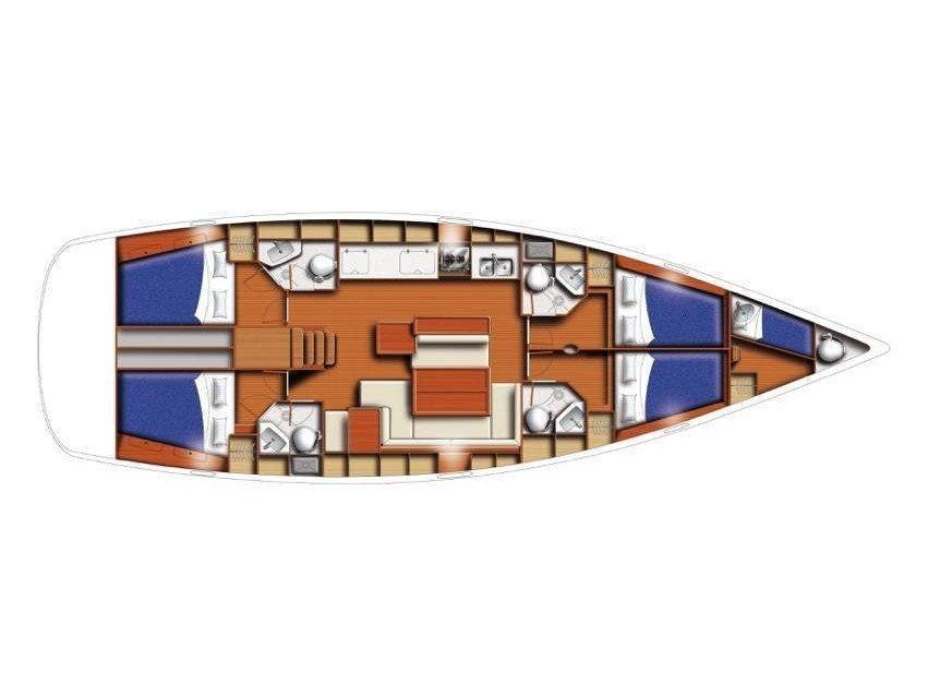 Oceanis 50 Family (Kookoo) Plan image - 2