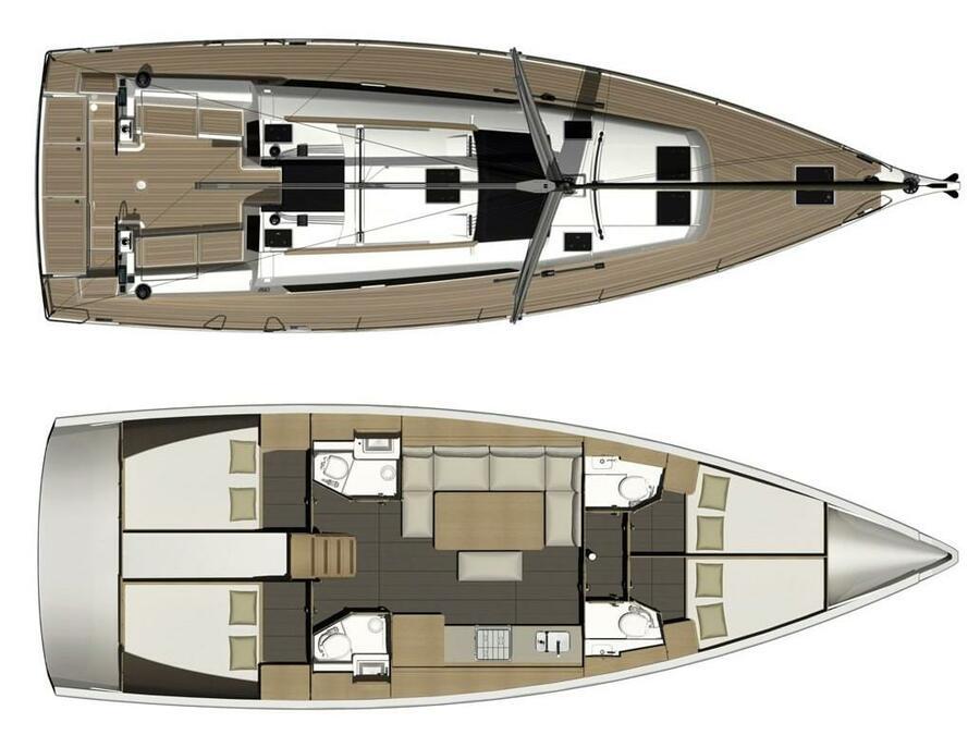 Dufour 460 Grand Large (Odysseas) Plan image - 2