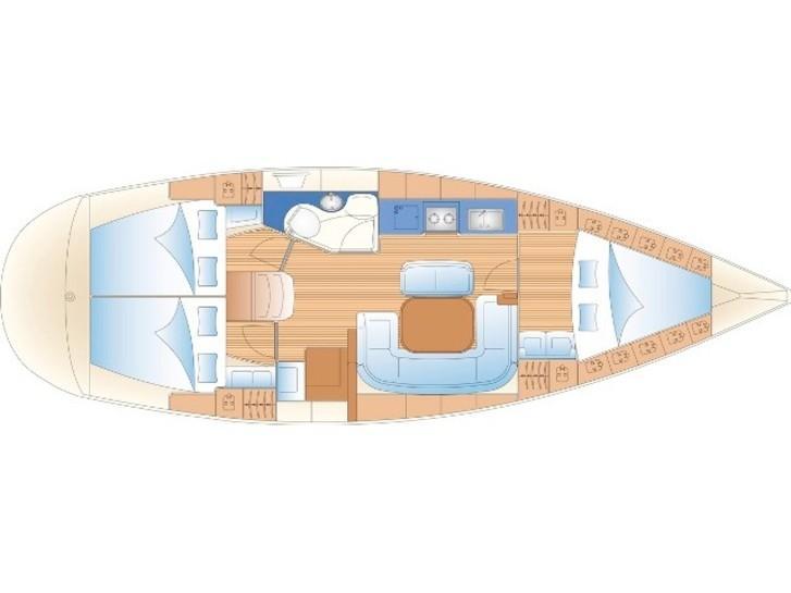Bavaria 38 Cruiser (Meander) Plan image - 1