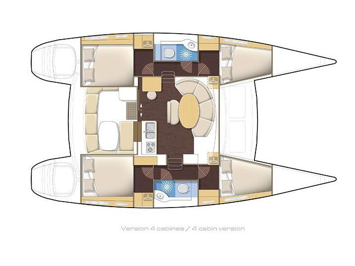 Lagoon 400 S2 (Lady Dom) Plan image - 5