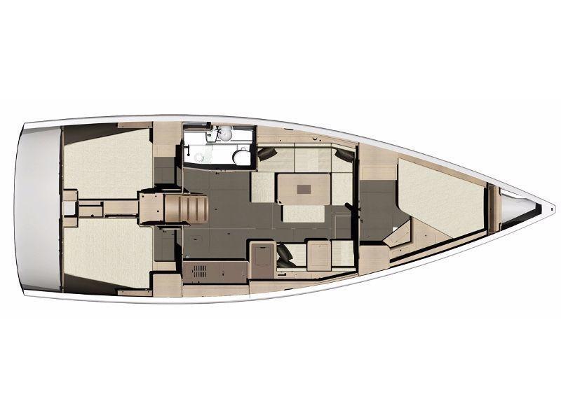 Dufour 410 Grand Large (Anemos) Plan image - 1