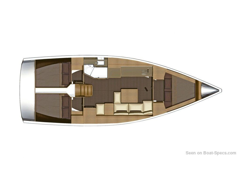 Dufour 382 Grand Large (Scirocco) Plan image - 1