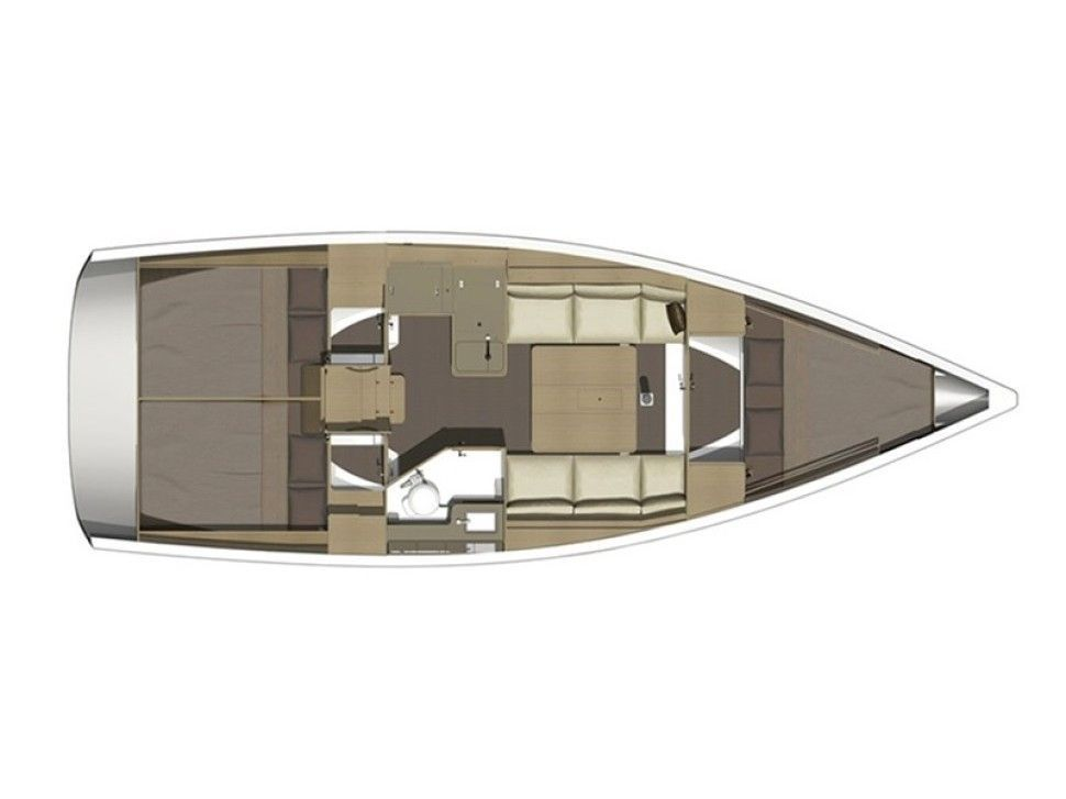 Dufour 350 Grand Large (Alcyone) Plan image - 1