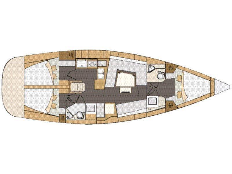 Elan 45 Impression - 3 cabin version (DaVinci) Plan image - 5