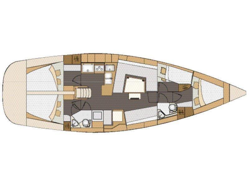 Elan 45 Impression - 4 cabin version (Jasmin) Plan image - 4