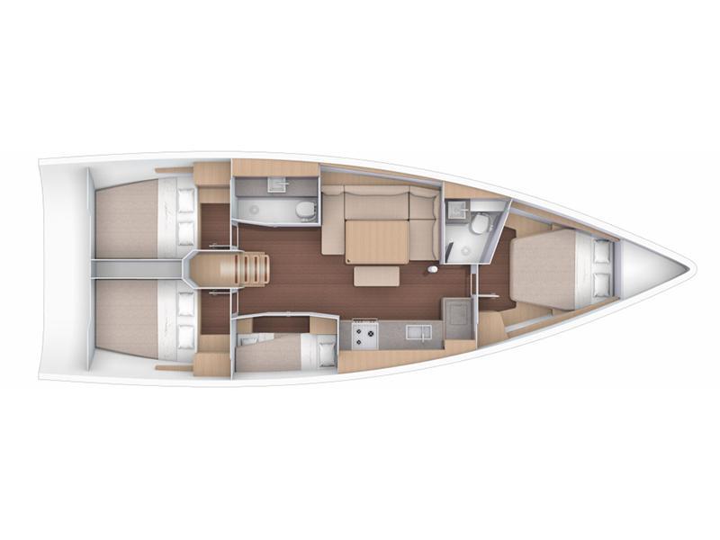 Dufour 430 Grand Large (Vivo) Plan image - 8