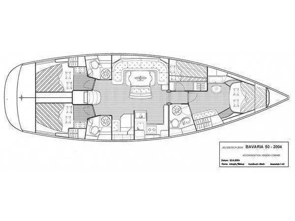Bavaria 50-4 CBS Cruiser (Fare Niente) Plan image - 1