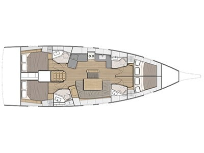 Oceanis 46.1 (Lena 1) Plan image - 1