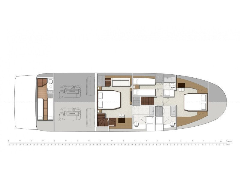 Prestige 630 Fly (Mavi Mar) Plan image - 2