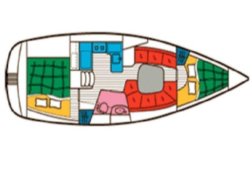 Beneteau 331 Master (SY Romantika) Plan image - 2