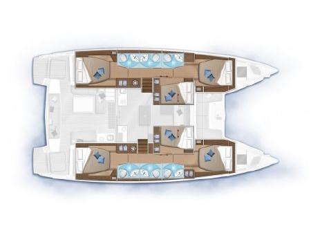 Lagoon 50 (Premium Equipped) Plan image - 1
